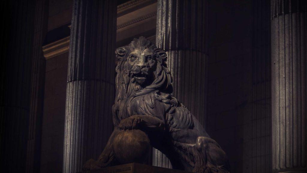 León del Congreso de los Diputados