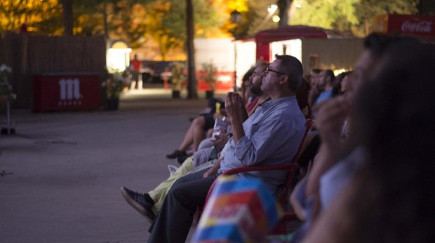 Espectadores cine de verano