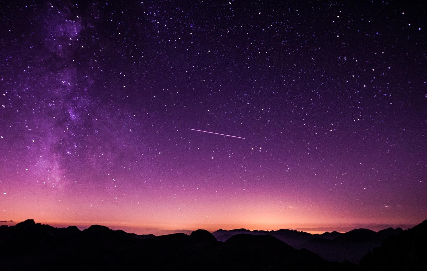 Panorámica cielo de noche