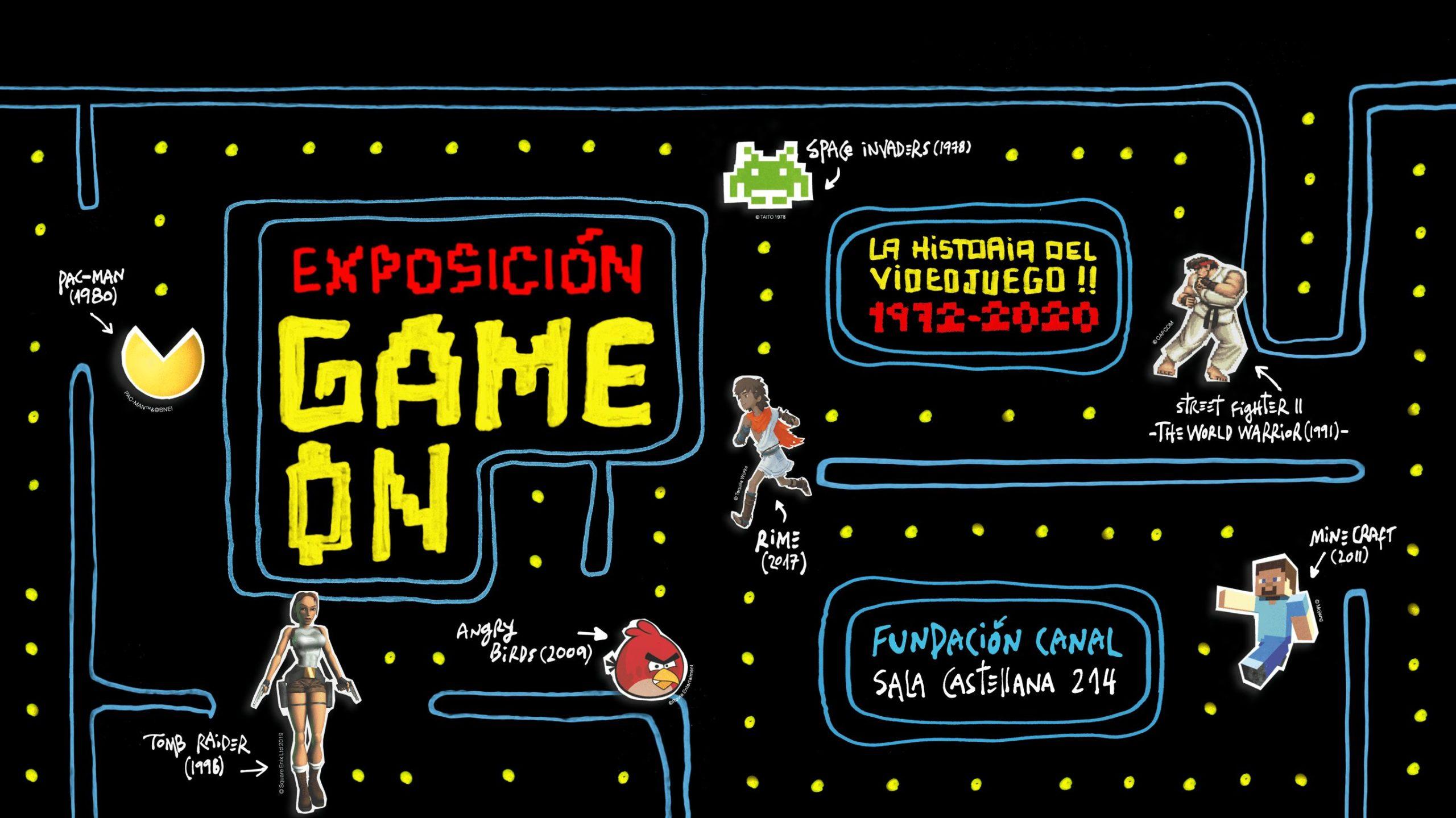 Cartel Exposición Game On Madrid