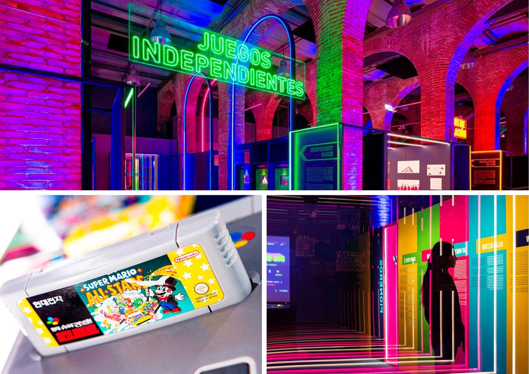 Interior de la exposición Game On en Fundación Canal