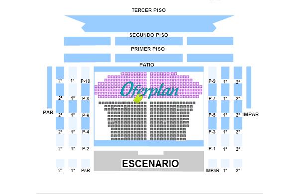 Plano Teatro de la Zarzuela