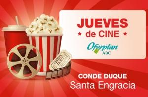 Entradas y palomitas Cine Santa Engracia | Jueves de Cine